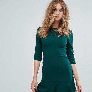 Kick flare scuba crepe midi dress ASOS